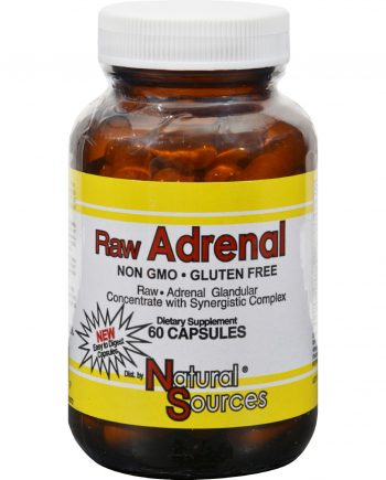 Natural Sources Raw Adrenal - 60 Capsules