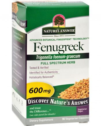 Nature's Answer Fenugreek Seed - 90 Vegetarian Capsules