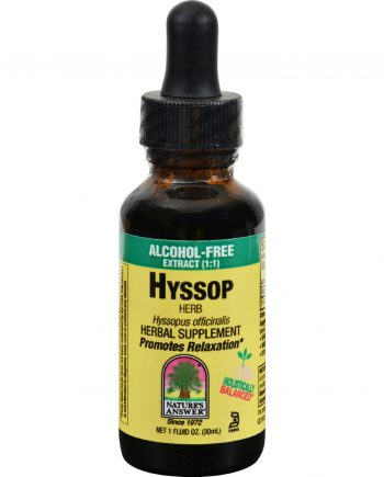 Nature's Answer Hyssop Extract - Alcohol-Free - 1 oz