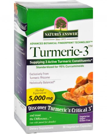 Natures Answer Turmeric-3 - 90 Vegetarian Capsules