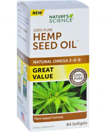 Natures Science Hemp Seed Oil - 100 Percent Pure - 84 Softgels