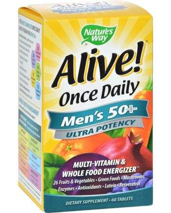 Nature's Way Alive Once Daily Men's 50 plus Multi-Vitamin - 60 Tablets