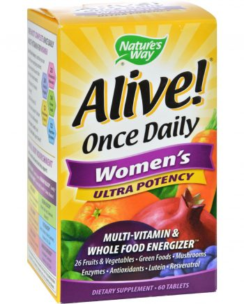 Nature's Way Alive Once Daily Women's Multi-Vitamin Ultra Potency - 60 Tablets