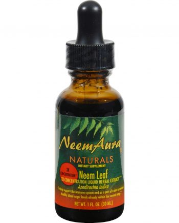 Neem Aura Certified Organic Triple Strength Neem Leaf Extract 1 to 5 - 1 fl oz