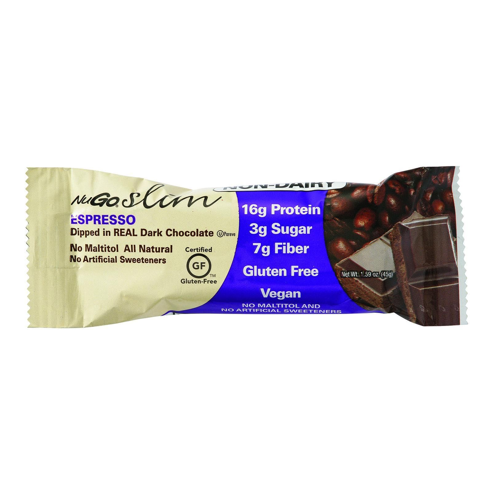 Nugo Nutrition Bar Slim Espresso 1 59 Oz Bars Case
