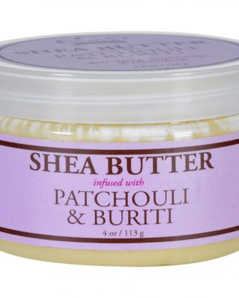 Nubian Heritage Shea Butter - 100 Percent Organic - Patchouli and Buriti - 4 oz