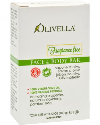 Olivella Fragrance Free Face And Body Bar - 3.52 oz