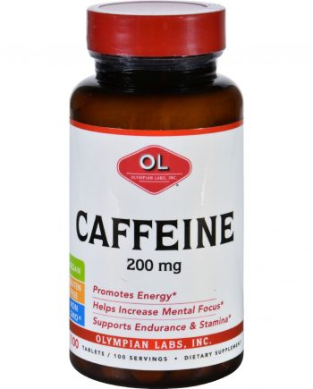 Olympian Labs Caffeine - 200 mg - 100 Tablets