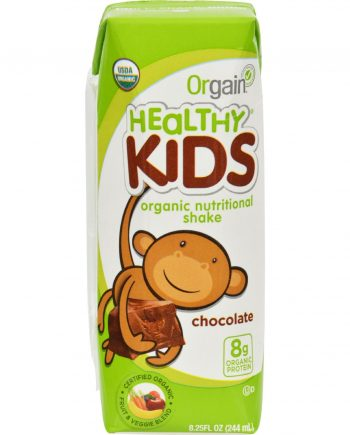 Orgain Organic Nutrition Shake - Chocolate Kids - 8.25 fl oz - Case of 12
