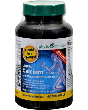 Phyto-Therapy Liquid Calcium - 1000 mg - 90 Softgels