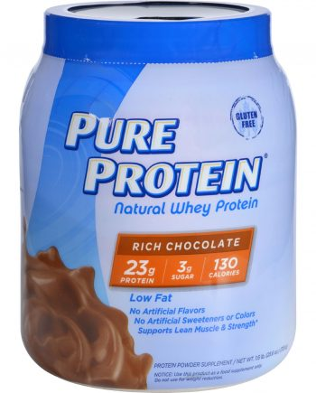 Pure Protein Whey Protein - 100 Percent Natural - Rich Chocolate - 1.6 lb