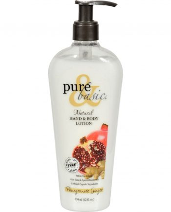 Pure and Basic Natural Bath And Body Lotion Pomegranate Ginger - 12 fl oz