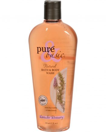 Pure and Basic Natural Bath and Body Wash Lavender Rosemary - 12 fl oz