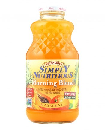 R.W. Knudsen Simply Nutritious Juice - Morning Blend - Case of 12 - 32 Fl oz.