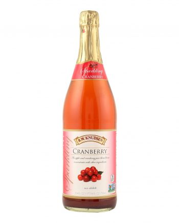 R.W. Knudsen Sparkling Juice - Cranberry - Case of 12 - 750 ml