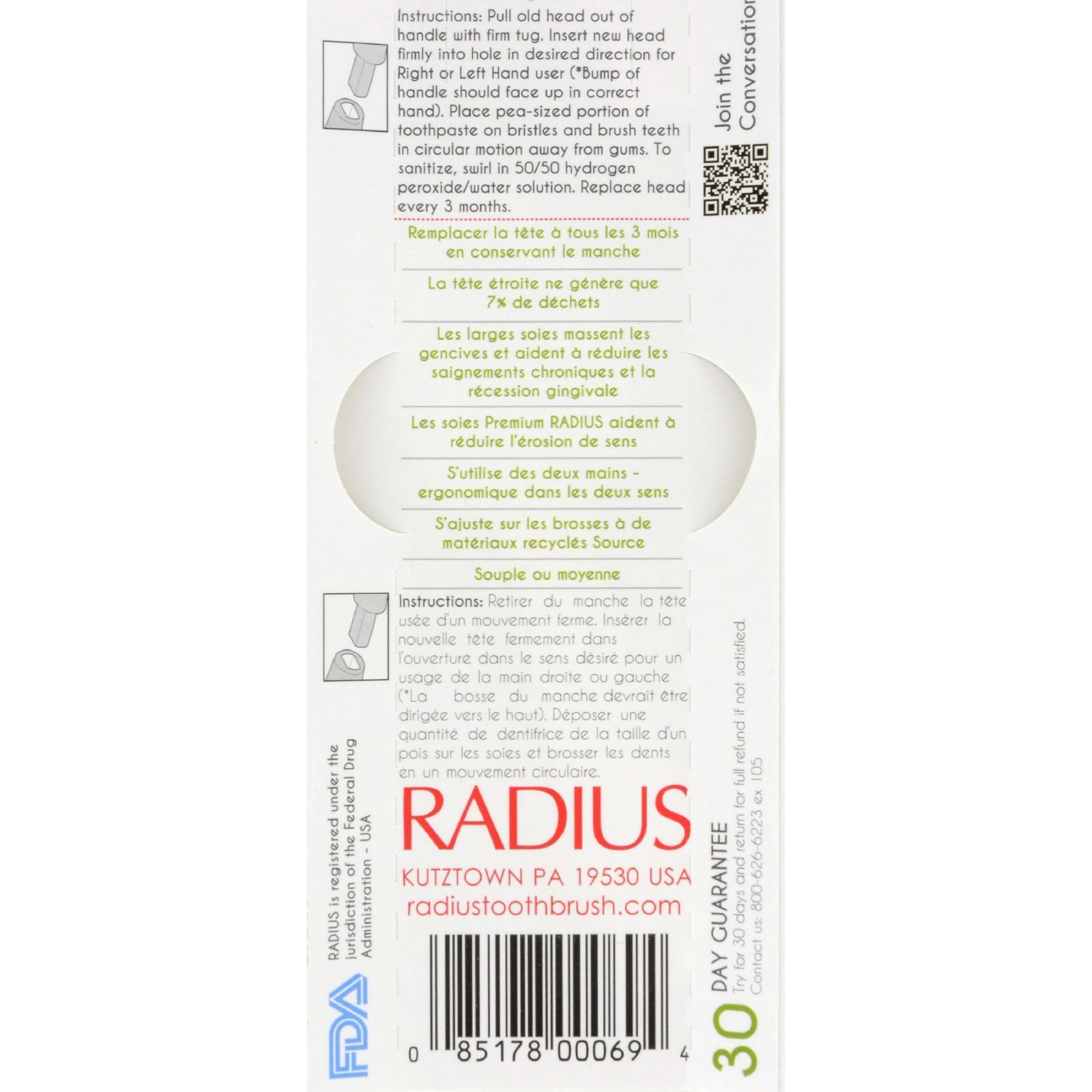 Radius Toothbrush Replacement Heads Source Super Soft 6 Ct