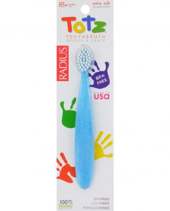 Radius Totz Toothbrush 18+ Months - Extra Soft - Clear Sparkle - Case of 6