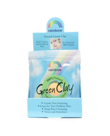 Rainbow Research Green Clay Packet Display Center - Case of 12 - .75 oz