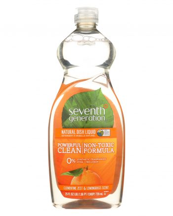 Seventh Generation Dish Liquid - Lemongrass and Clementine Zest - 25 oz