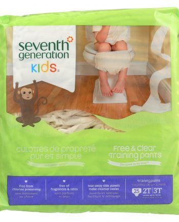Seventh Generation Free and Clear Training Pants - 2T - 3T - Case of 4 - 25 Count