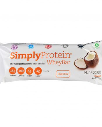 Simply Choices Whey Bars - Coconut - 40 grm - Case of 12