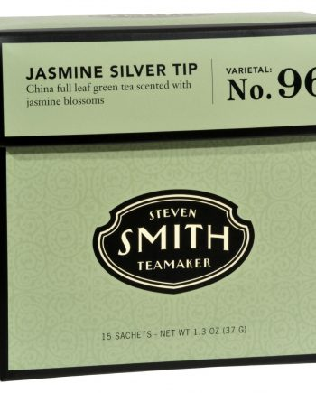Smith Teamaker Green Tea - Jasmine Slvr Tp - Case of 6 - 15 Bags