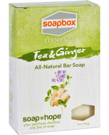 SoapBox Bar Soap - Elements - Tea and Ginger - 5 oz
