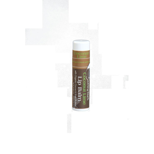 Soothing Touch Lip Balm – Organic Coconut Lime – Case of 12 – .25 oz