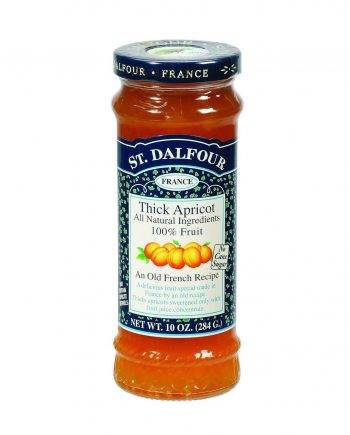 St Dalfour Fruit Spread - Deluxe - 100 Percent Fruit - Thick Apricot - 10 oz - Case of 6
