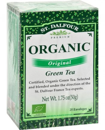 St Dalfour Organic Green Tea Original - 25 Tea Bags - Case of 6