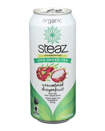 Steaz Zero Calorie Green Tea - Dragon Fruit - Case of 12 - 16 Fl oz.