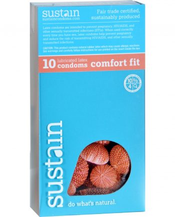 Sustain Condoms Comfort Fit - 10 Pack