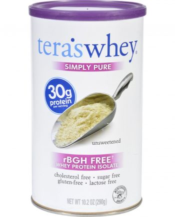 Teras Whey Protein Isolate - Whey - Simply Pure - Unsweetened - 10.2 oz
