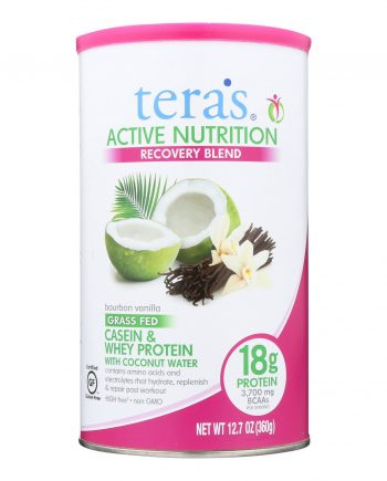 Teras Whey Protein Powder - Casein and Whey - Active Nutrition - Recovery Blend - Bourbon Vanilla - 12.5 oz