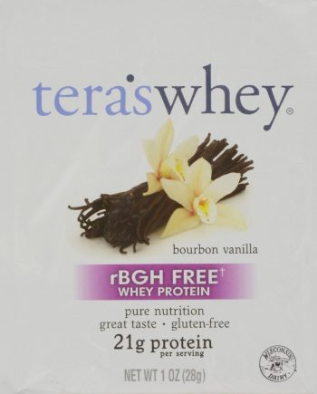 Teras Whey Protein Powder - Organic - Whey - Bourbon Vanilla - 1 oz - Case of 12