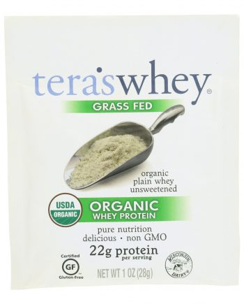 Teras Whey Protein Powder - Whey - Organic - Plain Unsweetened - 1 oz - Case of 12