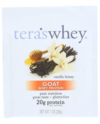 Teras Whey Protein Powder - Whey Protein - Goat - Vanilla Honey - 1 oz - Case of 12
