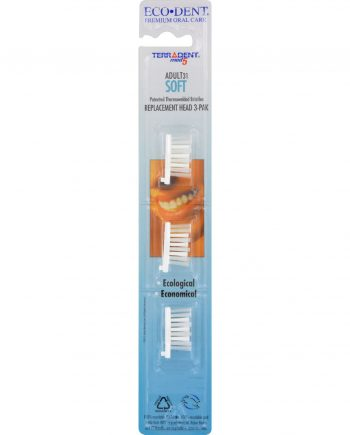 Terradent 31 Toothbrush Head Refill Soft - 3 Refills - Case of 6