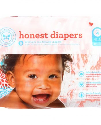 The Honest Company Diapers - Giraffes - Size 4 - Children 22 to 37 lbs - 29 count - 1 each