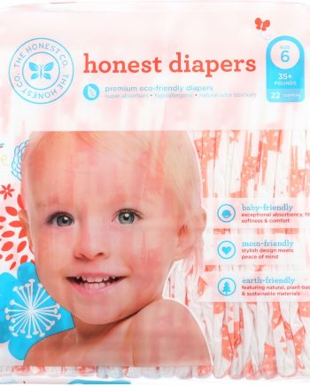 The Honest Company Diapers - Giraffes - Size 6 - Children 35 plus lbs - 22 count - 1 each