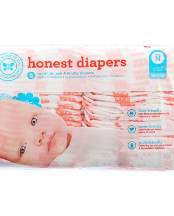 The Honest Company Diapers - Giraffes - Size N - Babies up to 10 lbs - 40 count - 1 each