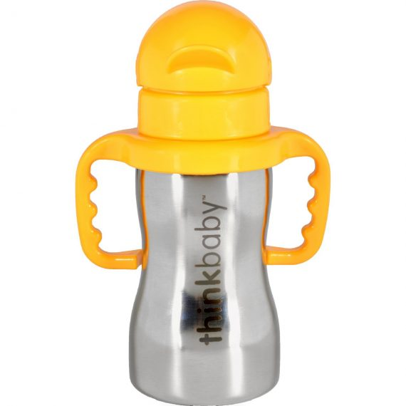 Thinkbaby Bottle – Thinkster – Of Steel – with Cover and Spout – 9 oz