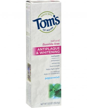 Tom's of Maine Antiplaque and Whitening Toothpaste Peppermint - 5.5 oz - Case of 6