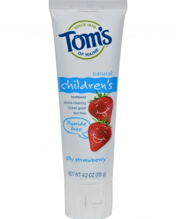 Tom's of Maine Children's Natural Toothpaste Fluoride-Free Silly Strawberry - 4.2 oz - Case of 6