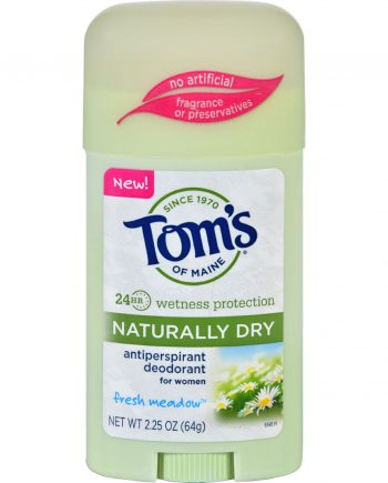 Toms of Maine Deodorant - Naturally Dry - Stick - Fresh Meadow - 2.25 oz - Case of 6