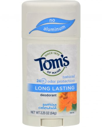 Tom's of Maine Natural Long-Lasting Deodorant Stick Calendula - 2.25 oz - Case of 6