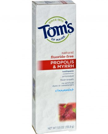Tom's of Maine Propolis and Myrrh Toothpaste Cinnamint - 5.5 oz - Case of 6