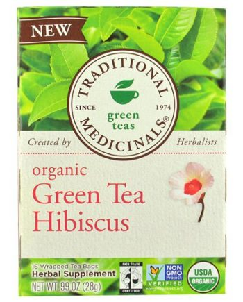 Traditional Medicinals Tea - Organic - Green Tea - Hibiscs - 16 ct - 1 Case