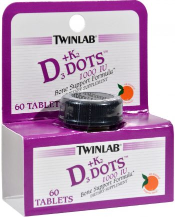 Twinlab D3 plus K2 Dots Tangerine - 1000 IU - 60 Tablets