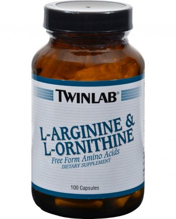 Twinlab L-Arginine and L-Ornithine - 100 Capsules